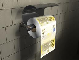 Carta igienica soldi